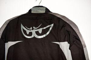 Motorradjacke BERIK - Schwarz mit Grau, Größe 56, mit Orginal -Kleidersack,XXL
