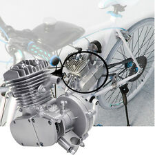 New 80cc 2-Stroke Engine For Motorized Bicycle Bike Engine Silver Motor Kit