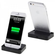 Estación de Carga Docking para Apple iPhone 6 4.7 6 PLUS 5.5 Negro Tienda NUEVO