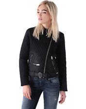 $400 Authentic Rare DIESEL Women's Black De-Paddes Spray-Coated Biker Jacket