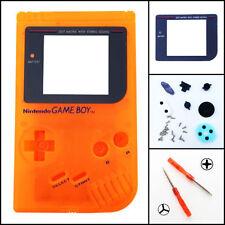 Nintendo Game Boy Original DMG-01 Housing Shell GLASS Screen Lens Orange