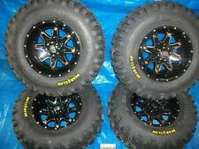 YAMAHA GRIZZLY 700 NEW 4 KENDA BEAR CLAW ATV TIRES ON 4 ALLOY BLACK HD rims