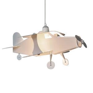 Children's Aeroplane Ceiling Pendant Light Shade White Plastic Novelty Shade