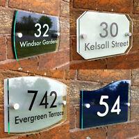 Personalisiertes Haustürschild mit Straßennamen, wetterfest rostfrei UV-sicher