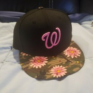 7 3/8 -- New Era 59Fifty MLB Washington Nationals Floral Fitted HAT CAP nwt