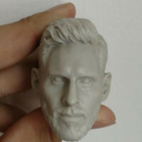 Blank Hot 1/6 Scale The Football Star Lionel Messi Head Sculpt Unpainted