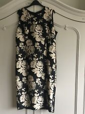 Gerard Darel Ladies Black/Gold Occasion Dress UK 16 EU 44