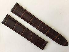 New 18MM Brown Soft Padded Strap Band Bracelet For Omega Speed & Seamaster