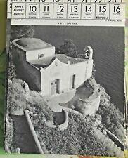 1957 Italie A Capri architecture maison océan mer art print