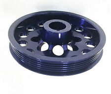 OBX Aluminum Crank Pulley Fits 01 02 03 04 Honda Civic DX EX LX 1.7L D17A Blue