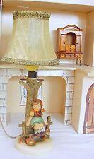 Goebel Hummel Original LAMP & CHARACTER FIGURES Porcelain Showcase Display Set!