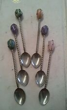 Antique Spoons W/ Semi-Precious Stones..Possibly Used For Magical Potion Mixing