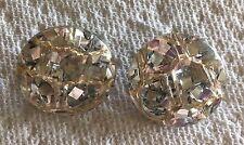 Vintage Silver Confetti Lucite Earrings