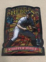 1998 Topps Baseball CHIPPER JONES GALLERY OF HEROS JUMBO, NM, Atlanta Braves HOF