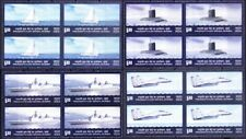 India 2011 MNH 4v Blk, Fighter Plane, Naval War Ships, Submarine