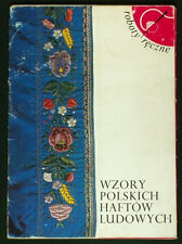 BOOK OF PATTERNS Polish Folk Embroidery antique ethnic peasant costume POLAND