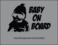 Baby on board sunglasses funny decal sticker many colors and sizes free shipping