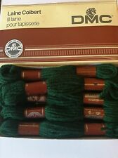 Vintage French DMC Virgin Wool Yarn Laine Colbert 8M X 10 Green bottle boxed New