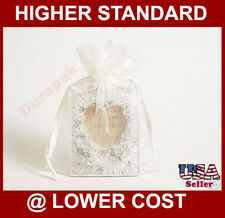 "20~ 5x7"" Ivory Organza Fabric Bag Party Wedding Favor Baby Shower Packing Bags"