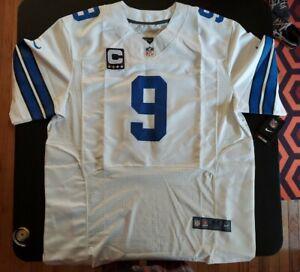 NEW NIKE On Field White Jersey Dallas Cowboys Tony Romo Captain NWT size 52 XXL