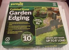 PARKLAND GARDENING  ** PACK OF 10 - COBBLED STONE EFFECT ** NEW BOXED - 8 FEET