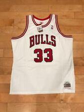 MITCHELL AND NESS SCOTTIE PIPPEN 1997 WHITE CHICAGO BULLS SWINGMAN JERSEY SZ 2XL