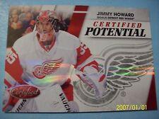 "2010-11 Panini Certified ""Certified Potential"" # 13 Jimmy Howard!  037/250"