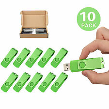 10 Pack Swivel 1GB USB2.0 Flash Pen Drive Memory Sticks Thumb Drive U Disk Green