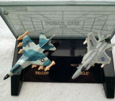 Rare 1990 Ertl Force One Display Miniatures Die Cast Air Fighters F-16 + F-15