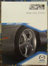 MAZDA ALLOY WHEELS BROCHURE NICE ZOOM ZOOM