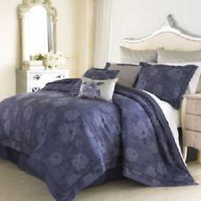 Charisma AMELIA Floral 8P Queen Duvet Cover Set $1335 Blue Grey