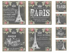 Vintage Image Victorian Chalkboard French Paris Labels Waterslide Decals LAB430