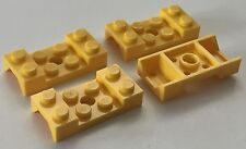 *NEW* 4 Pieces Lego YELLOW MUD GUARD 2x4 WITH ARCH STUDDED WITH HOLE 60212