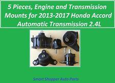 5 Pcs, Engine & Transmission Mount for 2013 2014 2015- 2017 Honda Accord 2.4 A/T