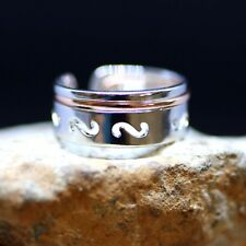 Two Tone Puzzle Ring Sterling Silver 925 Rose Gold , Mens Band , Two Piece Ring