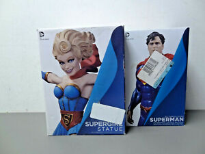 DC Comics Icons Superman + Bombshells Supergirl Numbered Statues Lot of 2 DAMAGE