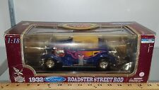 1/18 YATMING/ROAD LEGENDS 1932 FORD ROADSTER STREET ROD BLUE with FLAMES bd