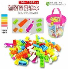 # 104X Plastic Children Kid Puzzle Educational Building Blocks Brick Toy Animal