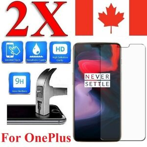 Tempered Glass Screen Protector Cover for OnePlus 7 6 6T 5 5T 3 3T One (2 PACK)