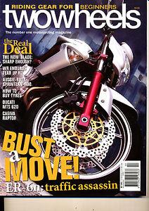 Two Wheels Magazine Feb 2006 ER-6N CBR1000RR Raptor 650 MTS650 WR250F WR450F