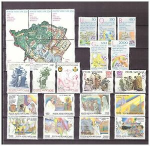 s15554) VATICANO MNH** 1986, Complete Year set 24v