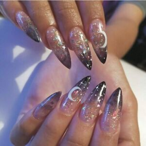 Halloween Serie Gothic Artificial Extra Long False Nails Coffin Press On Nails