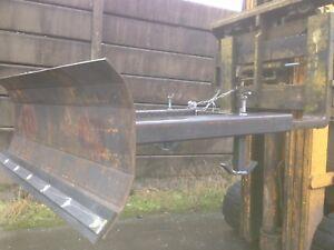 forklift truck snow plough/yard scrapper attachment  1250mm wide ( unpainted )