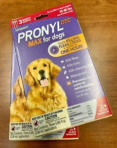 2 pcs. Sergeant's Pronyl OTC Max for Dog 45-88 lbs. Flea Ticks Lice Waterproof