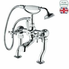 AQWA TRADITIONAL VICTORIAN BATHROOM BATH SHOWER FILLER MIXER TAP WITH HANDSET