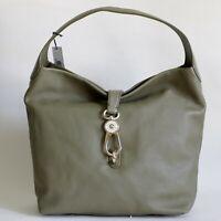 NWT Dooney & Bourke Belvedere Lock Pebbled Leather Hobo Shoulder Bag Olive Green