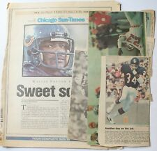 Lot 10 Walter Payton Chicago Bears Newspaper Cut Outs Photos