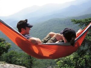 Eagles Nest Outfitters ENO DoubleNest Hammock Navy/Maroon