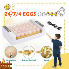 Farm Hatchery Machine Chicken Automatic Egg Incubator Hatcher Bird Quail Brooder