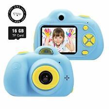 Kids Digital Camera Blue Children 1080P HD 2 inch Screen Video Action Camcorder